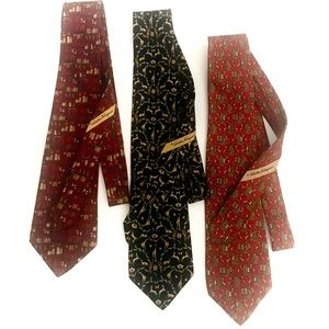 Salvatore Ferragamo Classic Silk Ties (set of 3)